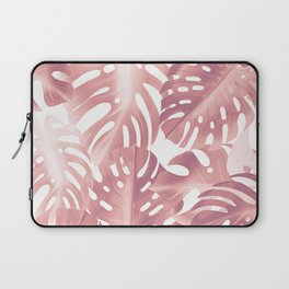 Rose gold tropical plant Laptop Sleeve