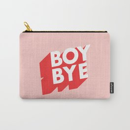 Boy Bye funny poster typography graphic design in red and pink home decor Carry-All Pouch