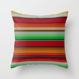 Mexican serape #6 Throw Pillow