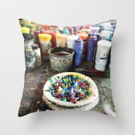 Plate of Colour Throw Pillow