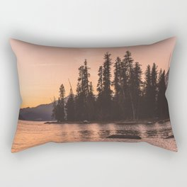 Forest Island at the Lake - Nature Photography Rectangular Pillow