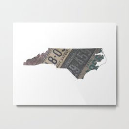 Vintage North Carolina Metal Print