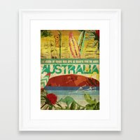 australia Framed Art Prints featuring Australia by LilianaPerez