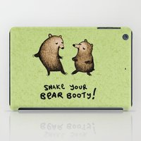 booty iPad Cases featuring Bear Booty Dance by Sophie Corrigan