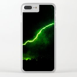 Chartreuse Lightning Clear iPhone Case