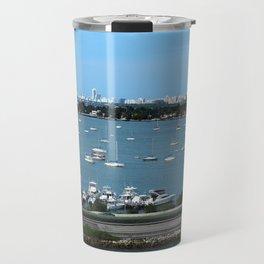 Miami skyline from the sea Travel Mug