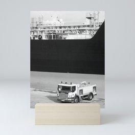 Fire truck and tanker Mini Art Print