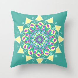 SunFlower Cool Green Throw Pillow