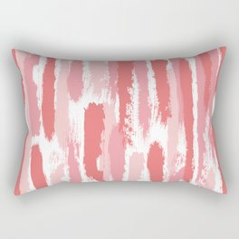 Brushstrokes Stripes Pattern - Pink, Rose, Coral, Peach Rectangular Pillow
