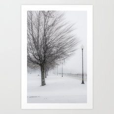 Charlotte Beach, Rochester, NY....in winter Art Print