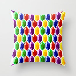 Hyrule Rupees x6072 Throw Pillow