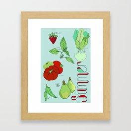 Fresh from the Farmers Market: Summer Framed Art Print
