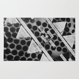 Rough Geometric Shapes Rug