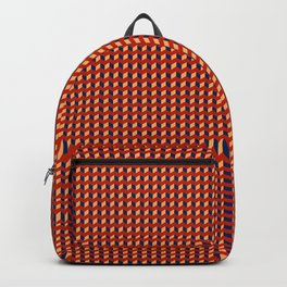 Red Squares Gold Backpack