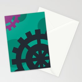 The Magical World of Gears Stationery Cards