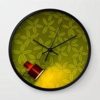 wallpaper Wall Clocks featuring Wallpaper by Georgios Karamanis
