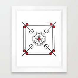 Carrom Board Framed Art Print