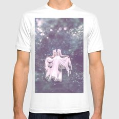 Summer Court White MEDIUM Mens Fitted Tee