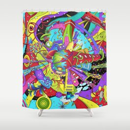 Out of Space by dana alfonso Shower Curtain