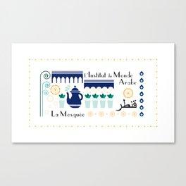 Paris _ le quartier arabe Canvas Print