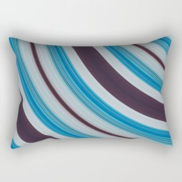 Blue, white and purple Rectangular Pillow