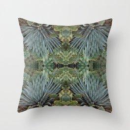 Agave Fractal Sedona Arizona Throw Pillow