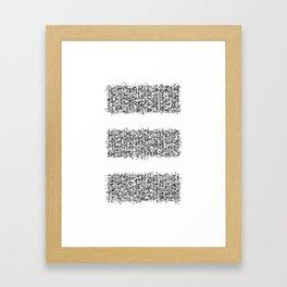 tri white Framed Art Print
