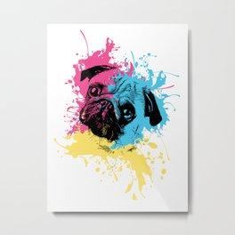 Three Colors of Pug Metal Print