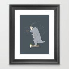 The Rhinosaurus Framed Art Print