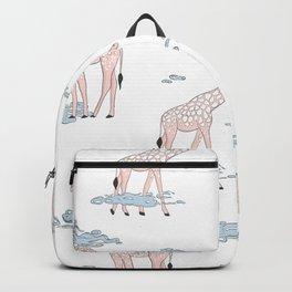 Giraffe in clouds Backpack