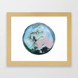 Marble water Ball Framed Art Print