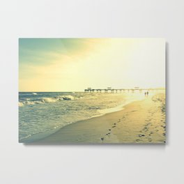 Couple on the Beach Metal Print