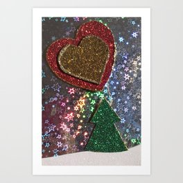 Big Love in a Winter Wonderland Art Print