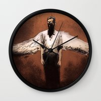 religion Wall Clocks featuring Losing My Religion by Zombie Rust