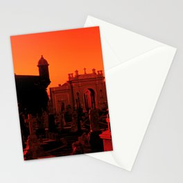 Cemetery At Sunset in LaPerla, Puerto Rico Stationery Cards