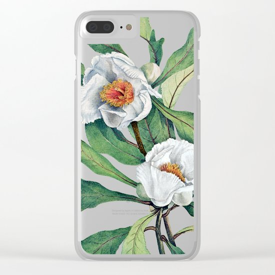 Franklin tree flowers Clear iPhone Case