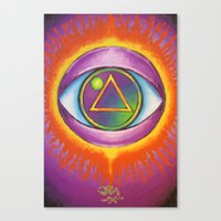 all seeing eye Canvas Prints featuring All Seeing Eye by Jedidiah Morley