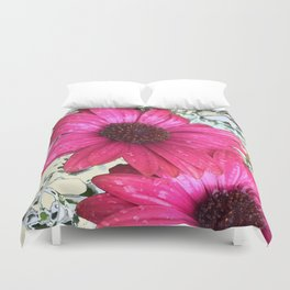 Garden Blooms - Pink  Duvet Cover