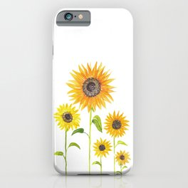 Sunflowers Watercolor Painting iPhone Case
