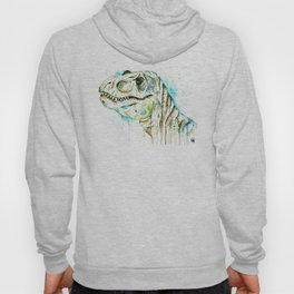 T-Rex - Tom the T-rex Colorful Watercolor Painting Hoody