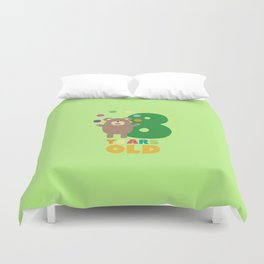 Eight Years 8th Birthday Party Grizzly Dsjyr Duvet Cover