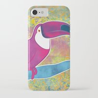 toucan iPhone & iPod Cases featuring Toucan by Eliana Bertola