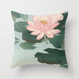Lotus Lilies  Throw Pillow