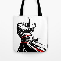 assassins creed Tote Bags featuring Assassins Creed  by iankingart