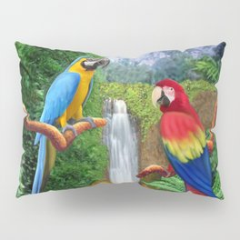 Macaw Tropical Parrots Pillow Sham