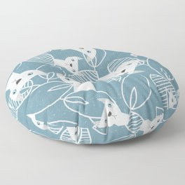 Peaking Cats Floor Pillow