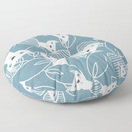 Peaking Cats Floor Pillow