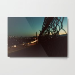 the green chainlink Metal Print