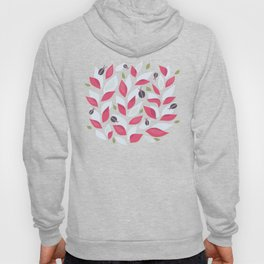 Pretty Plant With White Pink Leaves And Ladybugs Hoody