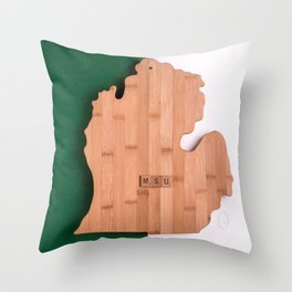 Michigan State University Spartans Throw Pillow